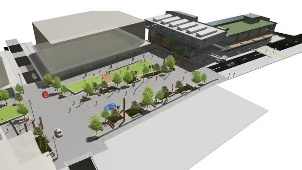 An artist's impression of the Westgate Town Centre.