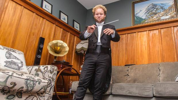 Di Somma, pictured here in 2015, likes to conduct in his socks.