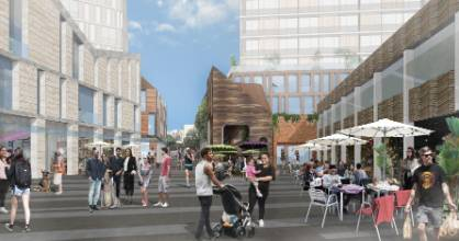 Panuku Development Takapuna's indicative plans show three buildings of up to nine-storeys on the current car park site.