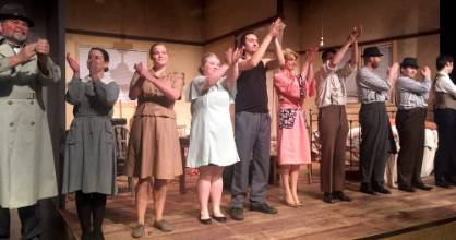 Cast of A Streetcar Named Desire after the show at Repertory Invercargill.