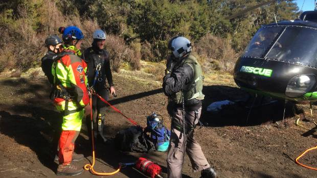 The police dive squad joined the sixth day of the search for two men missing in Tongariro National Park.