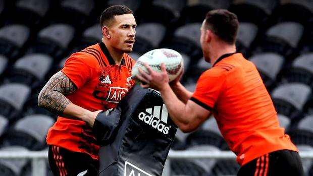Sonny Bill Williams trained with the All Blacks in Dunedin on Tuesday, but didn't play a full role.