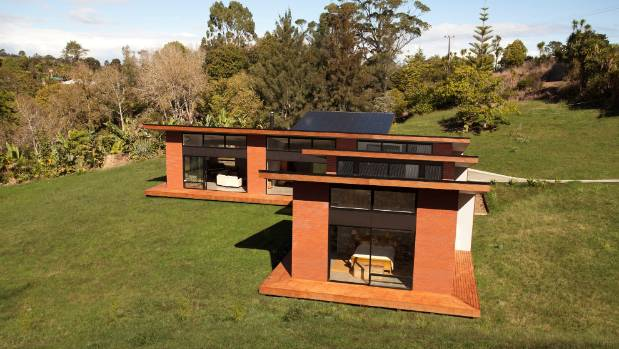 House designed by Solarei architecture and design practice, using passive solar design principles.