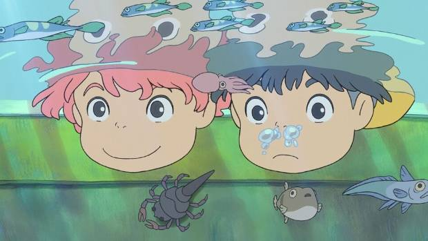 Ponyo is one of the many popular Studio Ghibli films returning to Hoyts Riccarton during the next month.