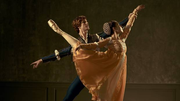 Madeleine Graham and Joseph Skelton star in the Royal New Zealand Ballet's production of Romeo and Juliet.