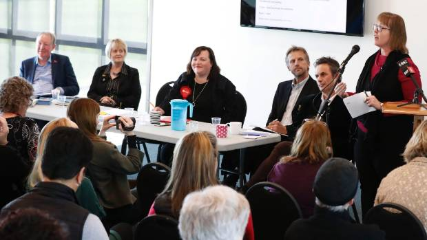 Election candidates seek support from Nelson crowd at forum