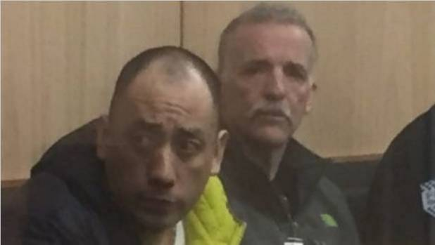 Augustine Suarez-Juarez and Ronald Cook in the High Court at Auckland, where they faced charges of importing, possession ...