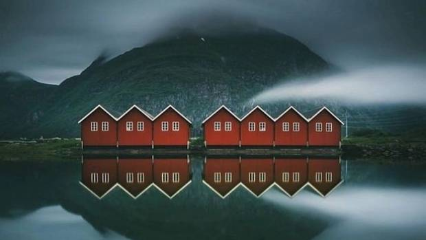 There's a real sense of movie magic about this image of huts on the waterfront in Suundalsora, Norway.