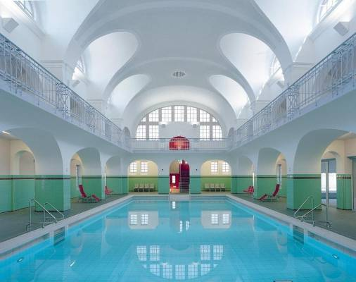 Swimming Hall in Gotha, Germany