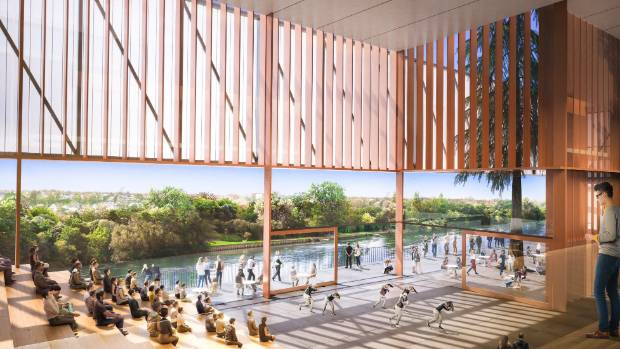 An artist's impression of what the interior spaces of the new Waikato regional theatre building could look like and how ...