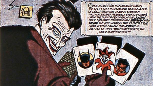 The first appearance of the Joker in the DC Batman comics.