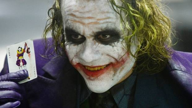 Heath Ledger won and Oscar for his performance as the Joker in The Dark Knight.