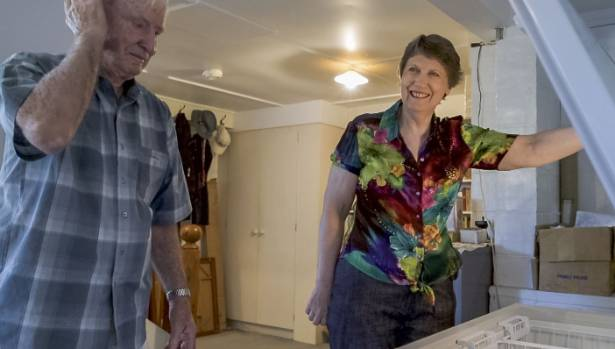 Helen Clark shows father George the latest batch of meals she's created for him, in a memorable scene from My Year With ...