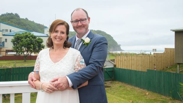 """Despite the ravages of last-ditch radiotherapy, Jane Norcross-Wilkins married """"soul mate"""" Mike Malcolm in December, 2016."""
