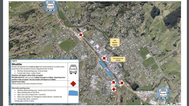 A shuttle will be running from the old New World Te Kuiti car park in Te Kumi Rd and from the Te Kuiti saleyards in ...