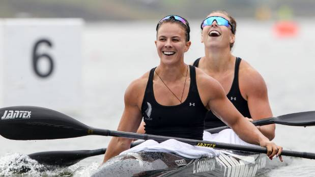 Lisa Carrington and Caitlin Ryan won gold in the women's K2 500m event at the Canoe Sprint World Championships in ...