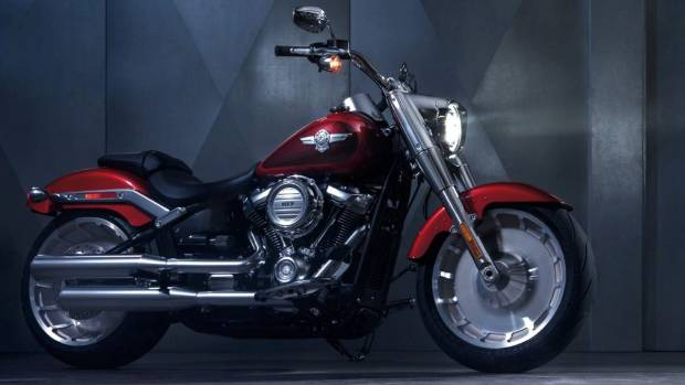 Harley-Davidson's 2018 lineup starts with some rebranded Softail motorcycles, including this Fat Boy.