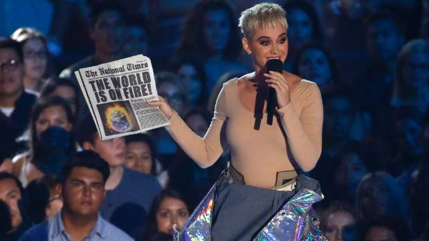 The MTV awards show is hosted Katy Perry.