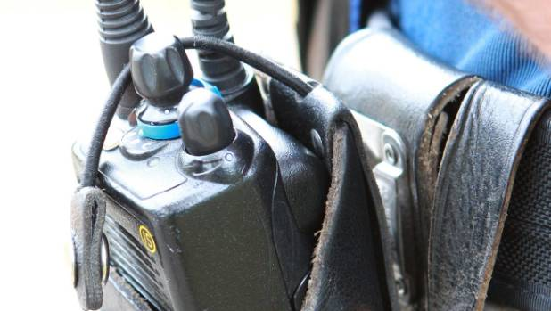A police radio, usually used for communicating police activity. The mystery broadcaster is believed to have been ...