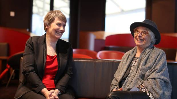 Helen Clark, former prime minister of New Zealand and former head of the UNDP, with filmmaker Gaylene Preston, at Event ...