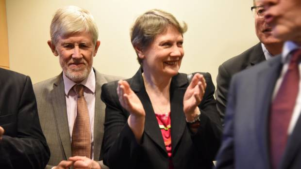 A still from My Year With Helen, featuring Helen Clark with husband Peter Davis.