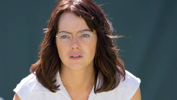 Emma Stone convinces as both a tennis player and a reluctant leader in Battle of the Sexes.