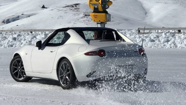 Snow-surface certainly agrees with cheeky MX-5 RF.