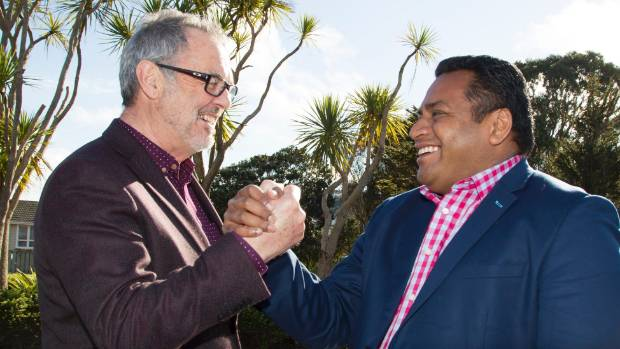 National's Euon Murrell, left, lost out in Mana to incumbent Labour MP Kris Faafoi. (File photo)