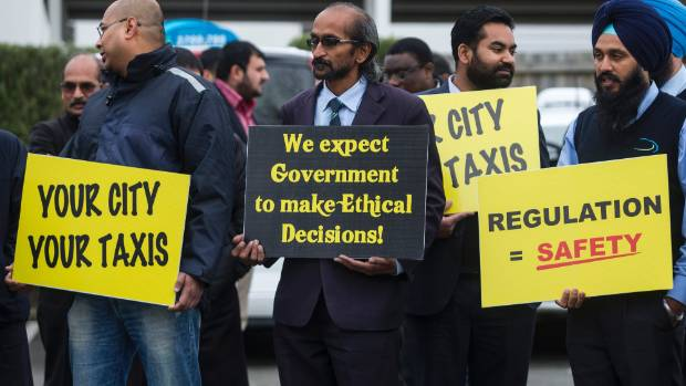 When Uber launched in Christchurch, taxi drivers staged a protest outside the offices of MP Nicky Wagner.
