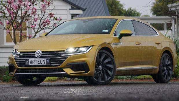 VW says Arteon signals its intent to move upmarket in all kinds of ways. Kiwi R-Line model is $74,990.