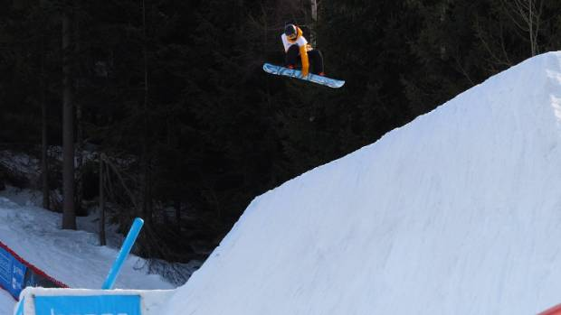 Zoi Sadoswki Synnott shows her winning form at the slopestyle world cup final in the Czech Republic in March.