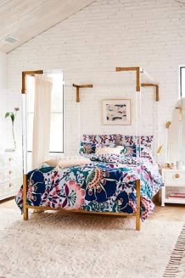 Liberty for Anthropologie embroidered Feather Bloom duvet, $344-400 depending on chosen size.