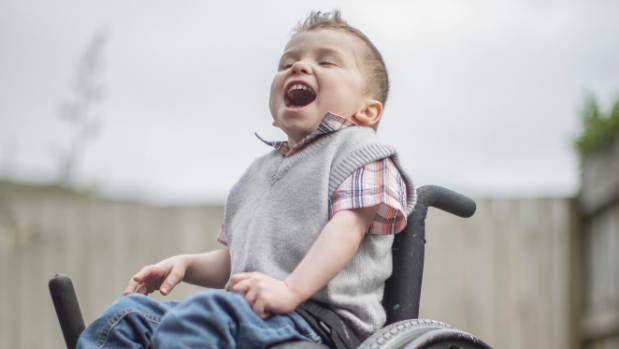 While Hugo struggles to walk by himself, due to his cerebral palsy, he is a happy, vivacious child according to his family.