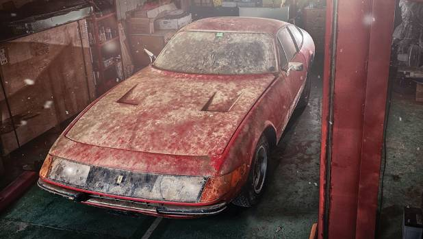 """This 1969 Ferrari 365 GTB/4 """"Daytona"""" is the only road-going version of the car built. It headed to auction after being ..."""