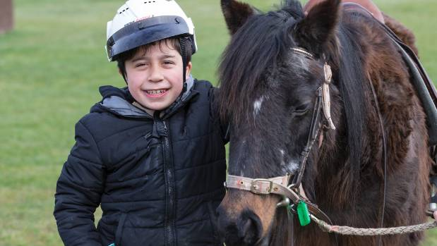 Riding for Disabled has opened for the first time in nearly two months after flooding destroyed a bridge. Pictured is ...