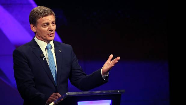 Prime Minister Bill English attacked Labour on tax and fiscal responsibility throughout the election campaign.