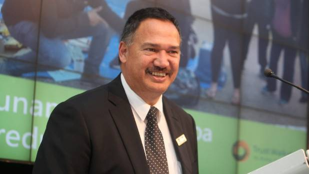 Trust Waikato chairman Niwa Nuri delivering a positive annual report to stakeholders.