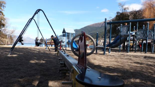 A playground on Queenstown Bay, near The Bathhouse cafe, will be upgraded after 22 years.