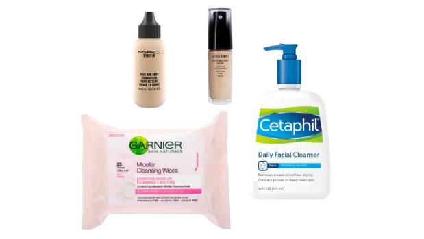 MAC Face and Body, $50; Shiseido Synchro Skin Glow Luminising Foundation, $69; Cetaphil, $26 for 500ml, and Garnier ...