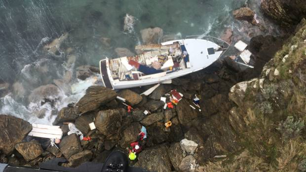 The Nelson Marlborough Rescue Helicopter has winched two people from a remote beach in the outer Marlborough Sounds.