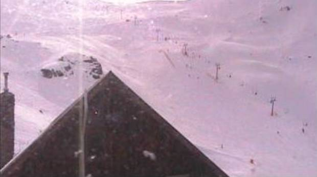 This webcam shot was taken at 4pm, showing people still on the chair lift.