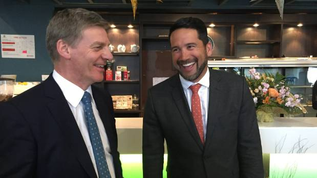 Dr Lance O'Sullivan welcomed Prime Minister Bill English in Kaitaia during the election campaign.