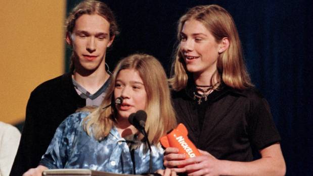 Isaac, Zac and Taylor accept the Favourite Song award for 'Mmmbop' at the 1998 Nickelodeon Kids Choice Awards in Los ...