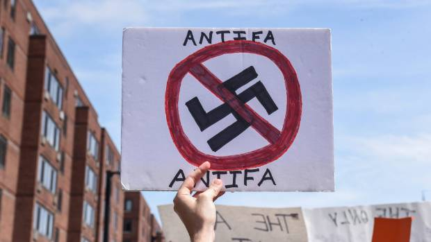 The most-tweeted link in a Russian-linked network followed by the researchers was a petition to declare Antifa a ...
