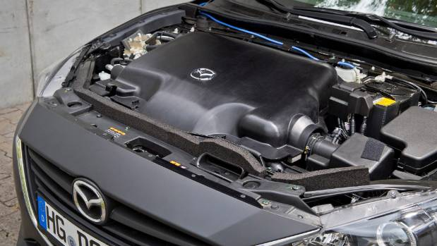 SkyActiv-X engine crosses petrol and compression-ignition diesel tech together - hence the name.