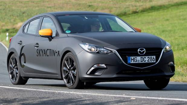Looks like a current Mazda3, but it's not: prototype has 2019-spec SkyActiv-X engine and platform underneath.