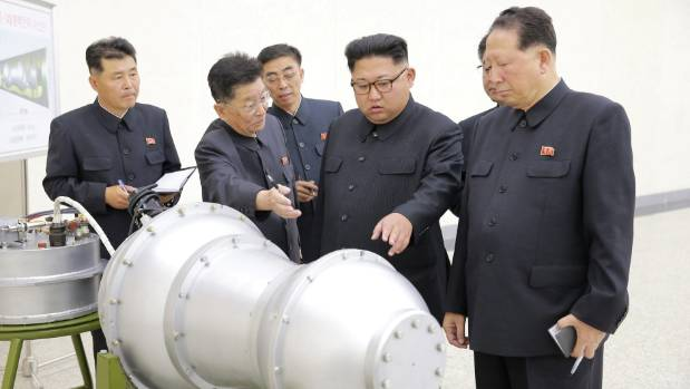 North Korean leader Kim Jong Un on a tour at the country's nuclear weapons programme. The rogue state purportedly ...