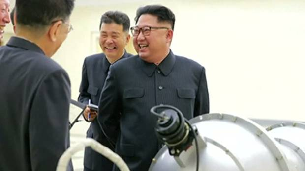 Kim Jong Un inspects loading of Hydrogen bomb into ICBM