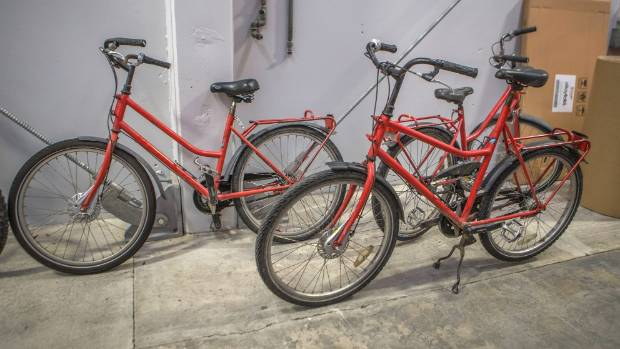 Old NZ Post bikes ready for refurbishment to begin.