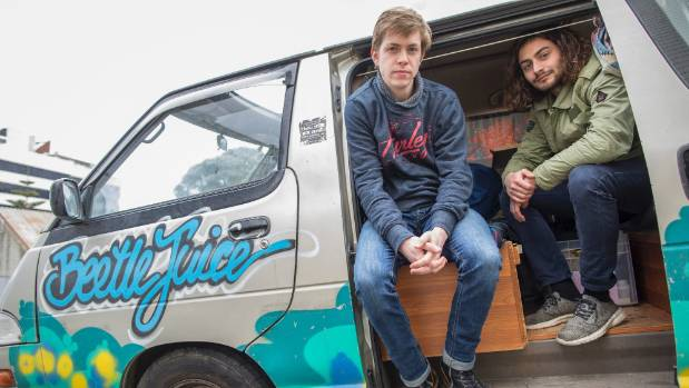 French tourists Sven Seigneurin, 23 and Antoine Berthelot, 23, had gear stolen from their camper van on August 30.